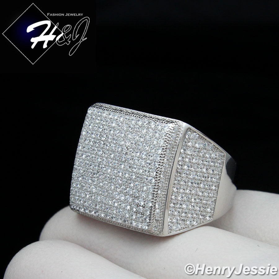 in sterling silver Ace Square Ring